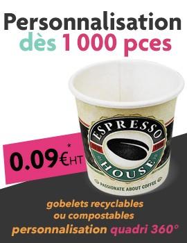 gobelet carton personnalisable recyclable